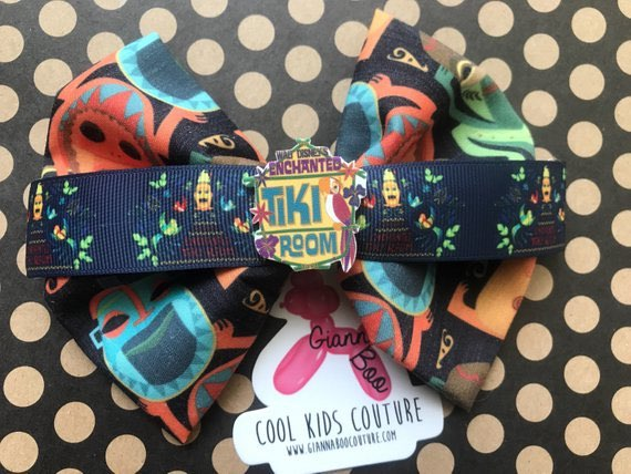 Enchanted Tiki Room Inspired, Fabric Hair Bow