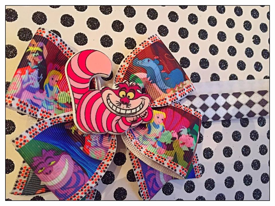 Cheshire Cat - Alice in Wonderland Bow