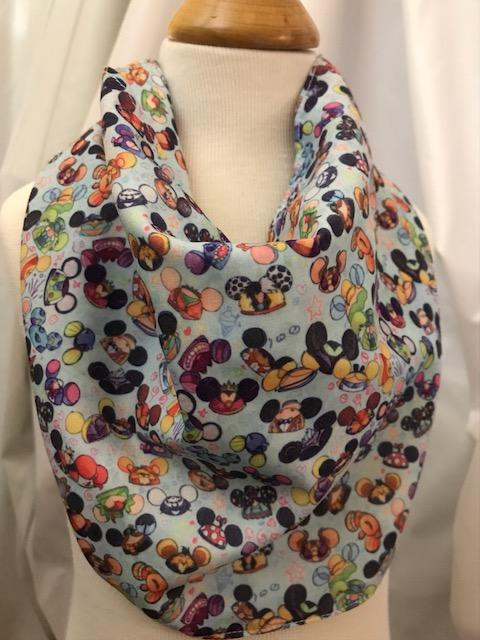 Disneyland Ears Fabric Inspired Drool Bib Bandana 12M-24M