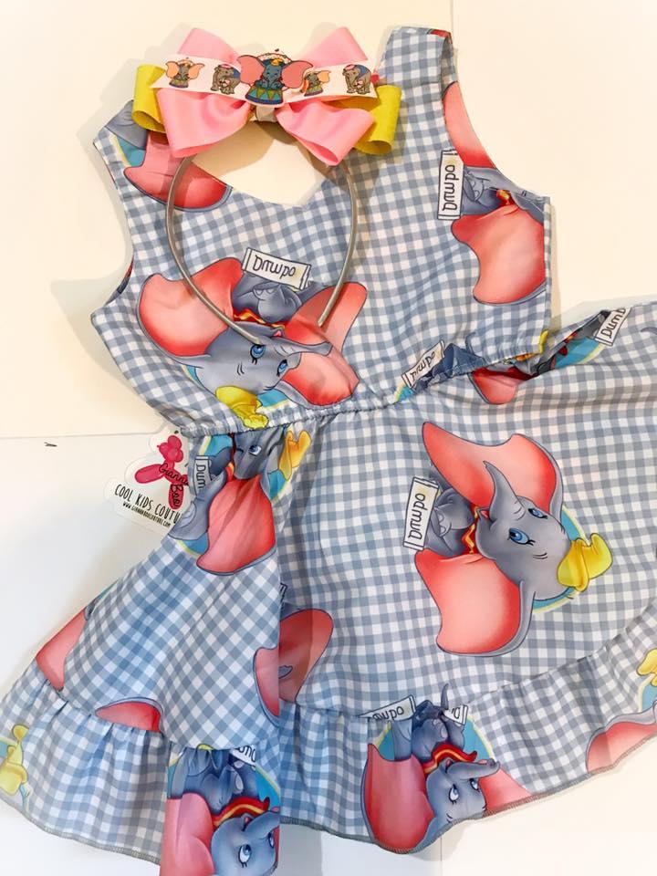 Dumbo Dress w/Headband or Bow