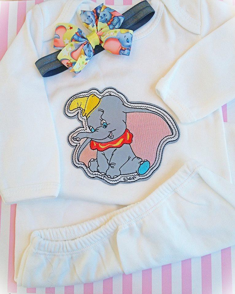 Dumbo Baby Sleeper Set 0-3M