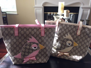 Designer Inspired Zoo Bird Patch Bag