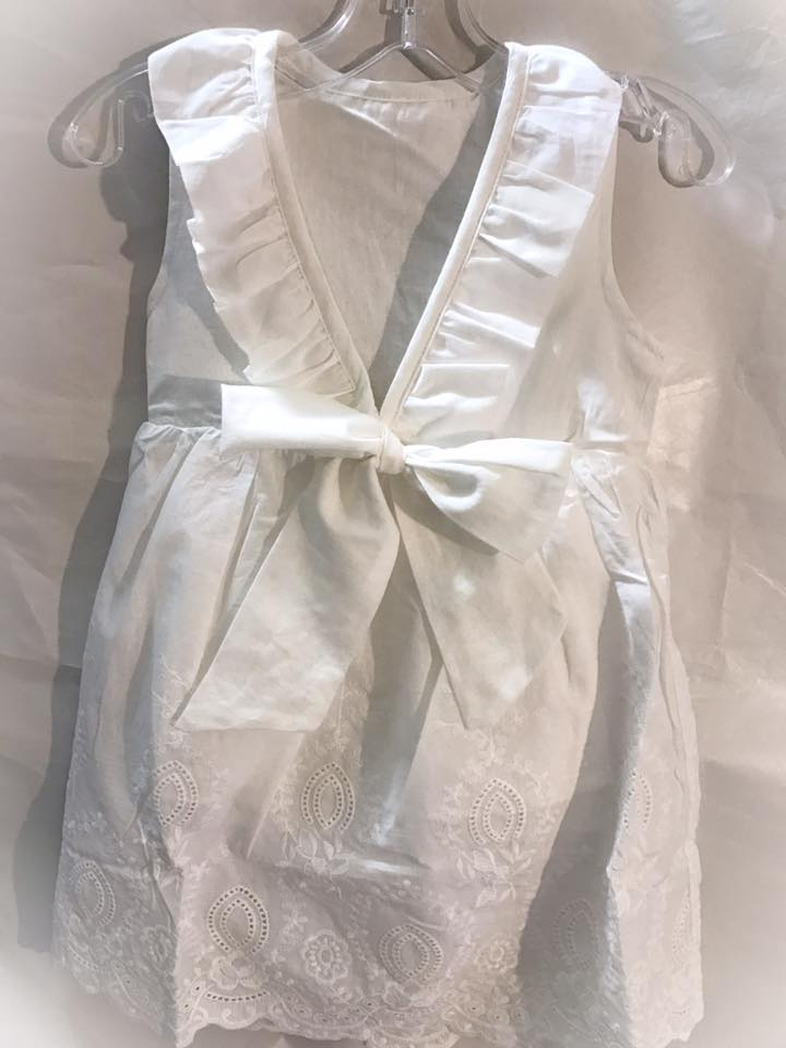 Gianna Back Bow Ruffle Dress - Set
