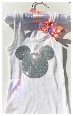 Glitter Mickey Tank