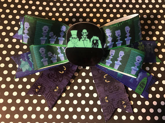 Disney's Haunted Mansion Inspired Hair Bow - Singing Heads/Doom Buggy