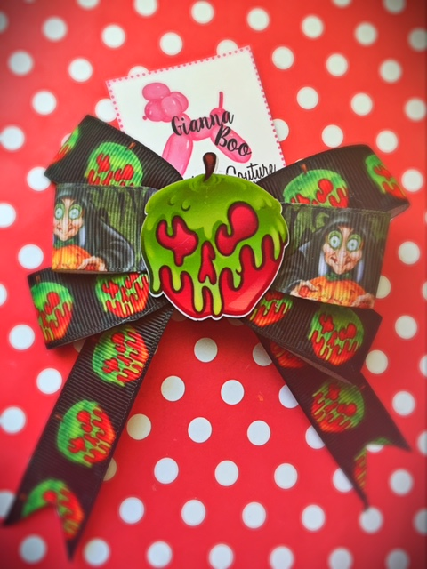 Snow White Poison Apple Bow