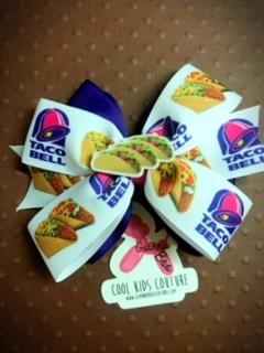 Taco Bell Love - Hair Bow Clip