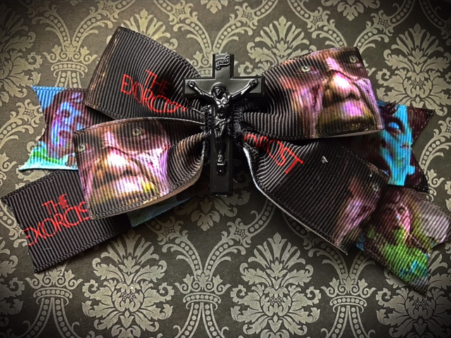 Exorcist Regan MacNeil Hair Bow Clip