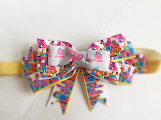 "Disney Inspired ""Small World Bow"""