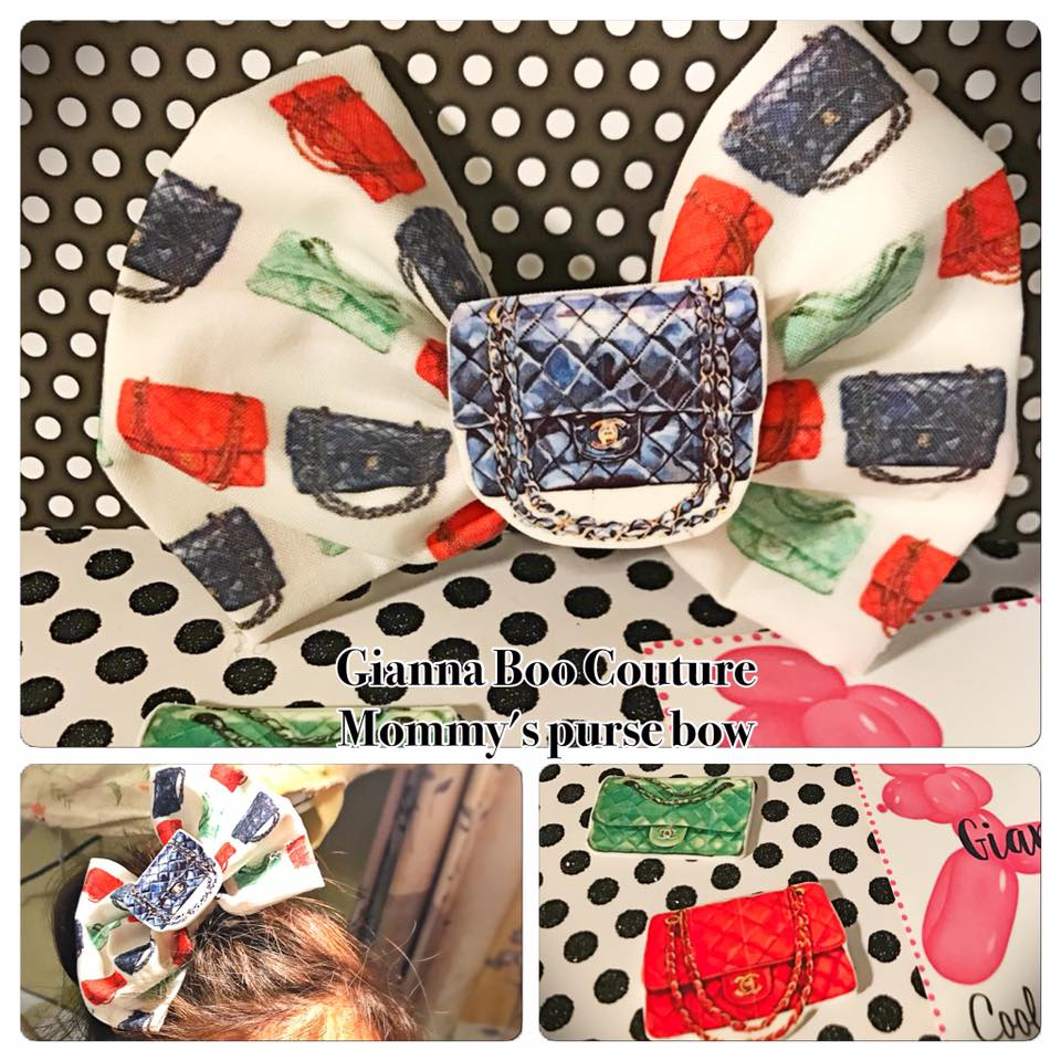 Mommy's Purse - Fabric Bow