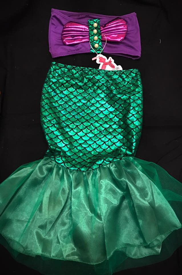 Mermaid Skirt (Cover-up) and top SET