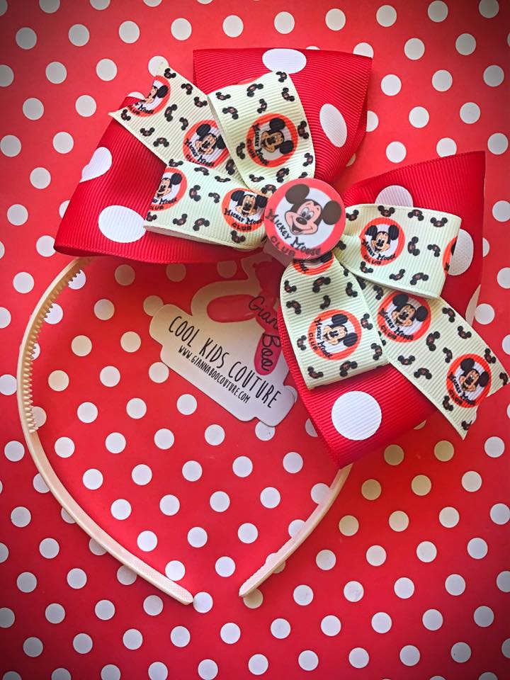 Mickey Mouse Club Headband Bow