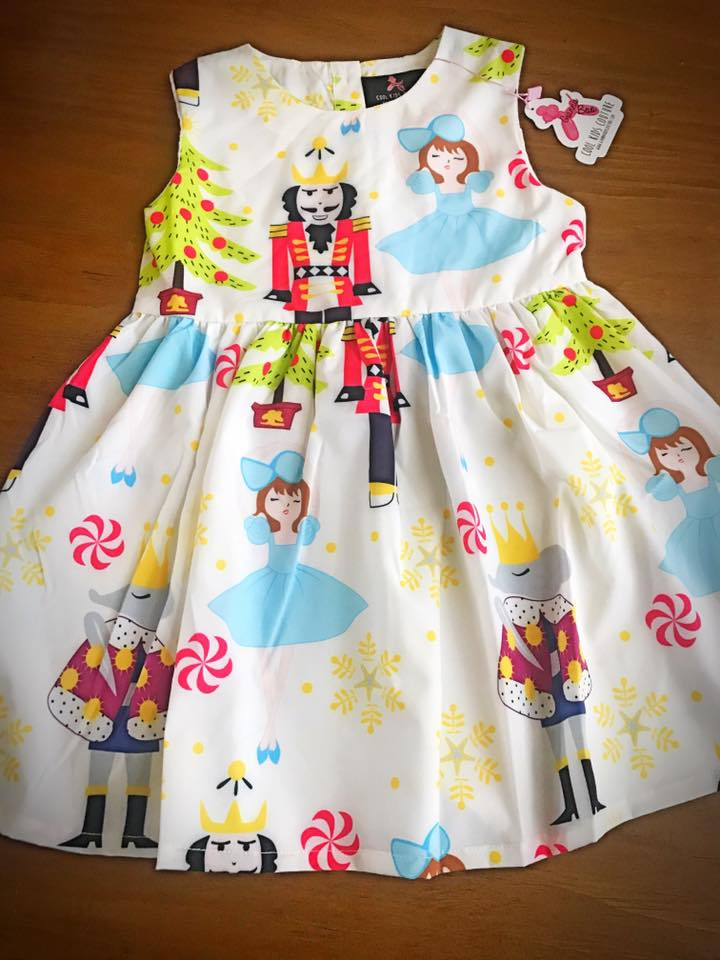 Nutcracker Dress - Includes Toy Nutcracker