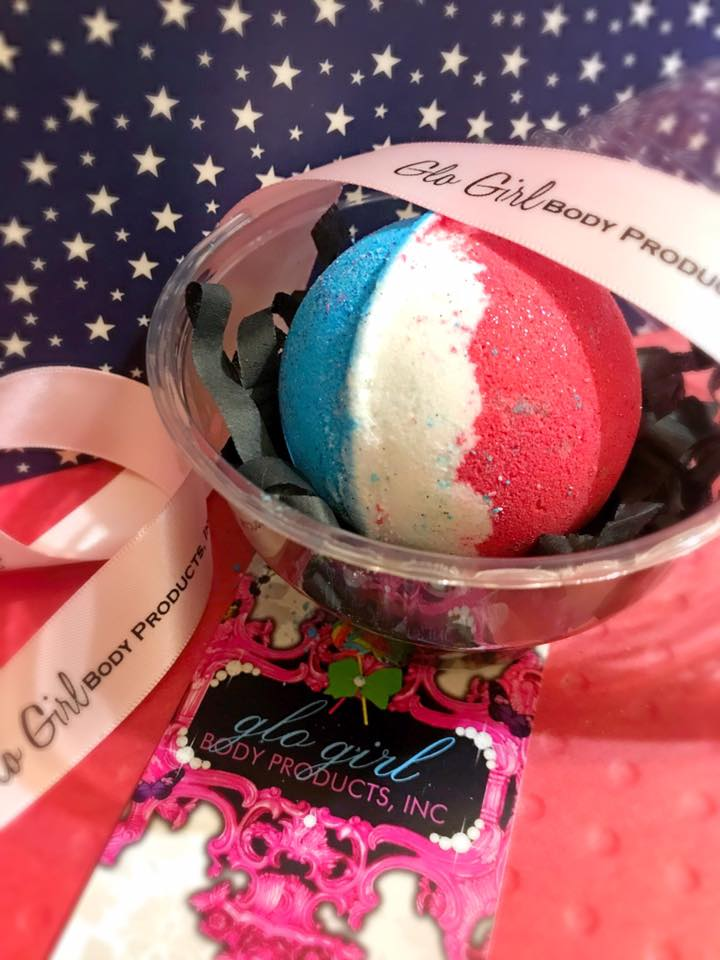 Red, White & Blue Bath Bomb