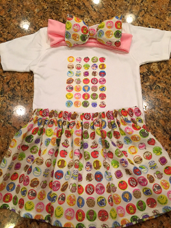 Custom 80's Scratch and Sniff Sticker Skirt Set - OUT OF STOCK