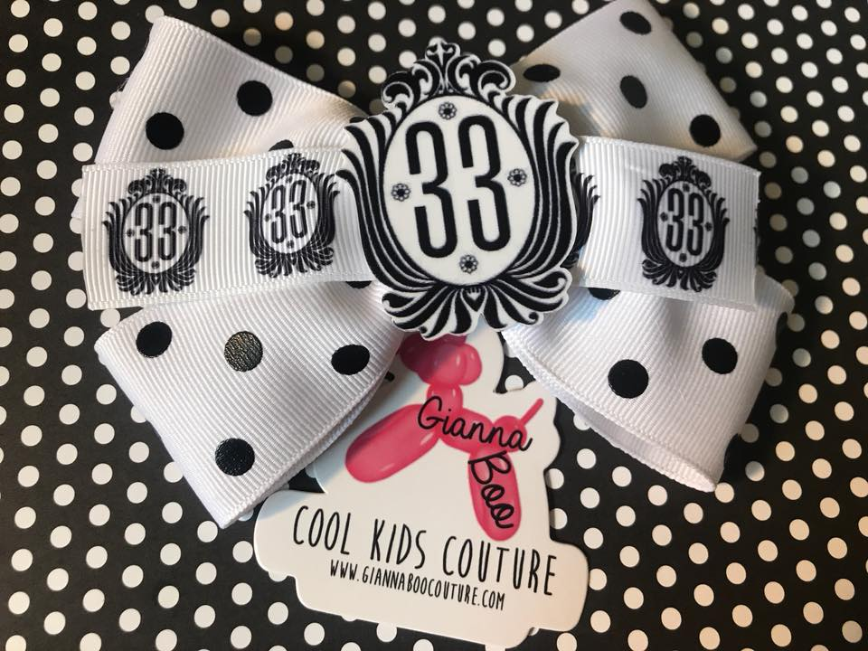 Inspired by Disneyland's Exclusive CLUB 33 - Hair Bow