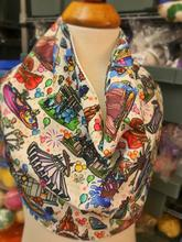 """Around Disneyland"" Landmark Inspired Fabric Drool Bib Bandana"
