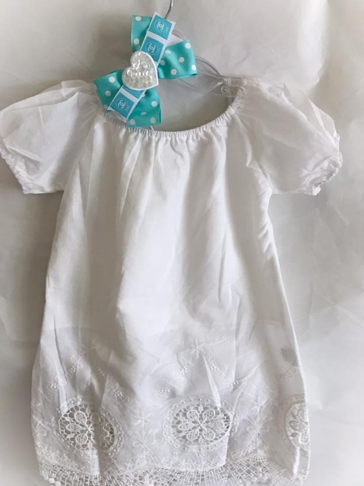 Cotton Antique Toddler Dress Set